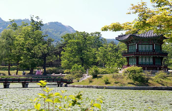 穿着韩服可以免费进入景福宫。