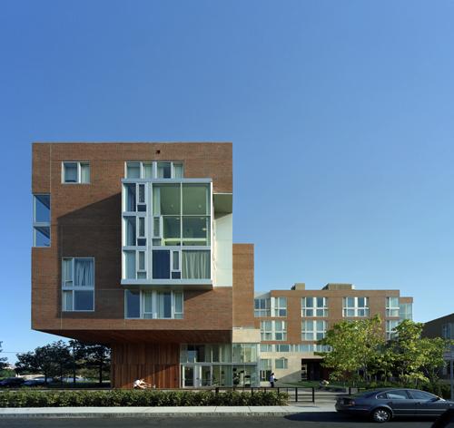 禹圭升的哈佛大学宿舍项目侧面照片(图片:kyu sung woo architects)图片